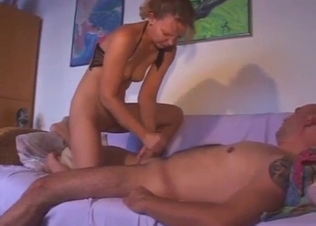 Skinny daughter rides on her stepdad cock