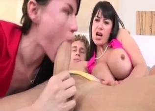 Busty mom and her daughter are just two sluts