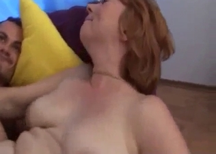 Hardcore incest on the sofa with my mom