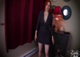 Foxy redhead sibling jumps on me in POV