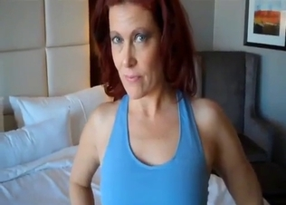 Sporty redhead mom gets banged from behind
