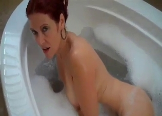 My beauty mom jerks off my dick in POV