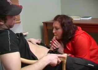 Dirty mom passionately blows her son